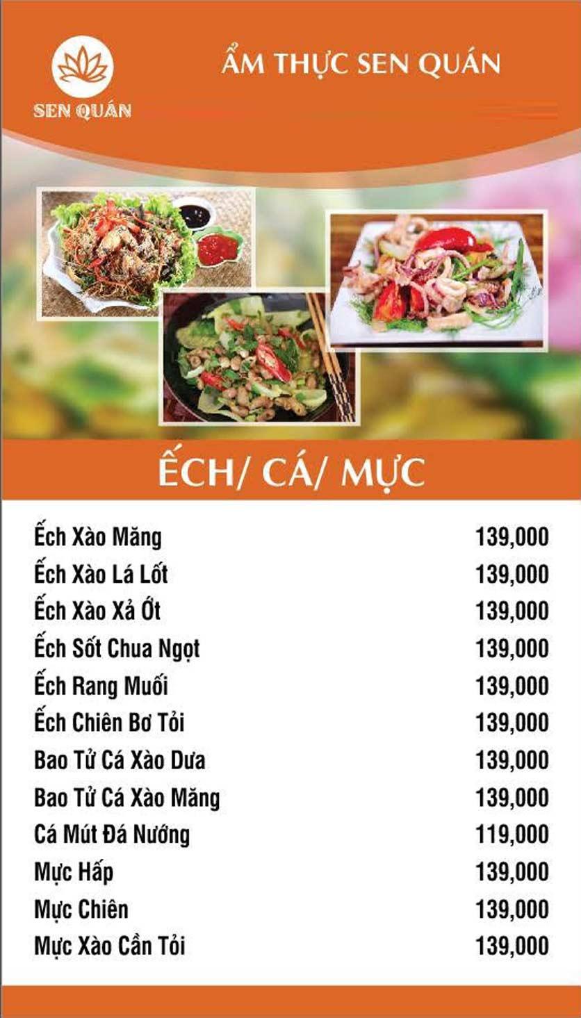 Menu Sen Quán - Huỳnh Thúc Kháng 3