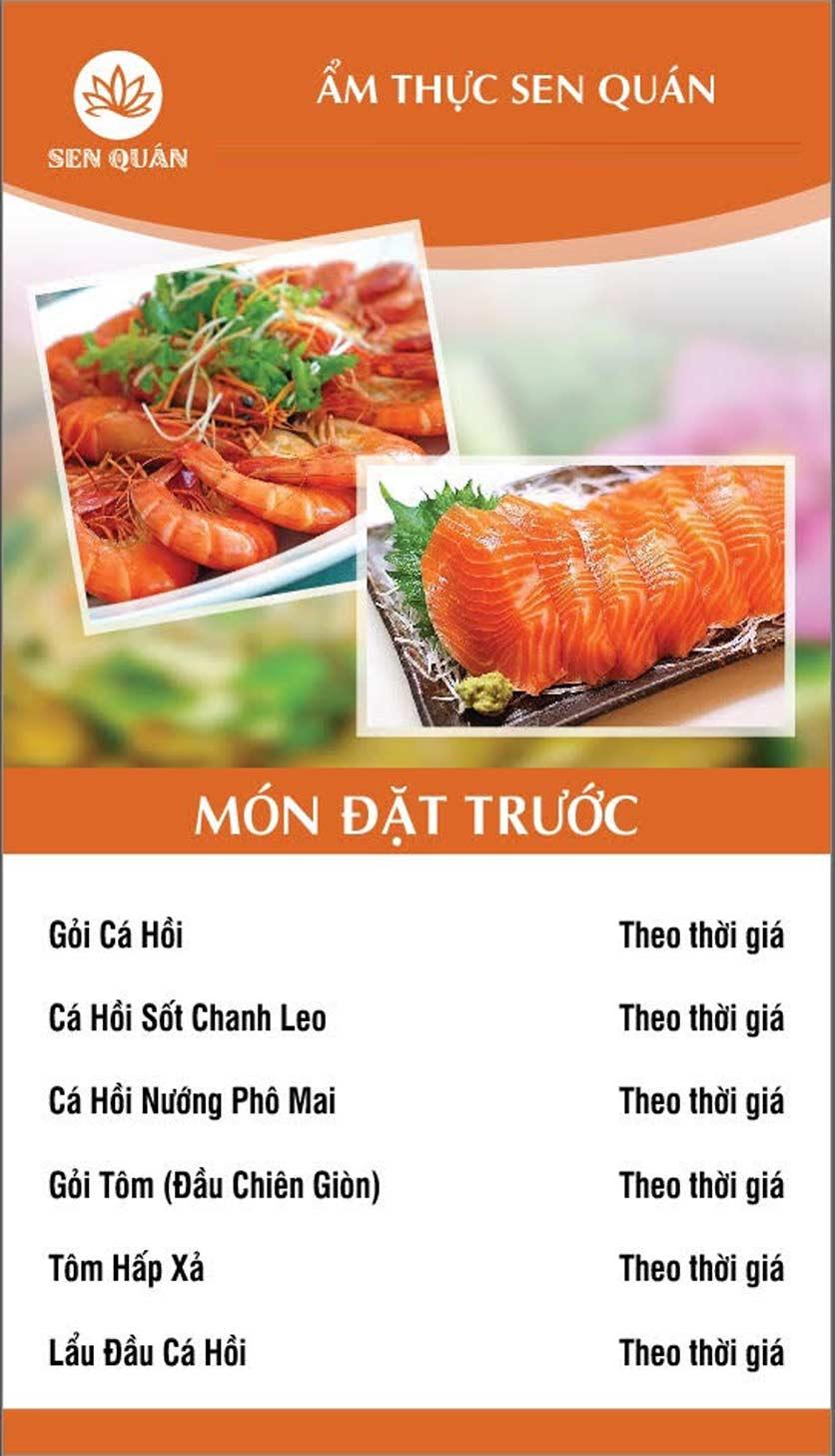 Menu Sen Quán - Huỳnh Thúc Kháng 5