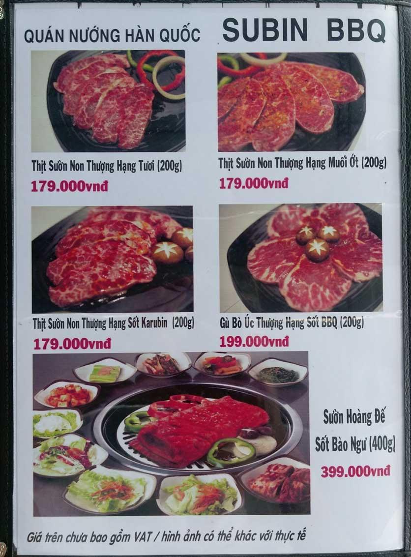 Menu Subin BBQ - Củ Chi 5