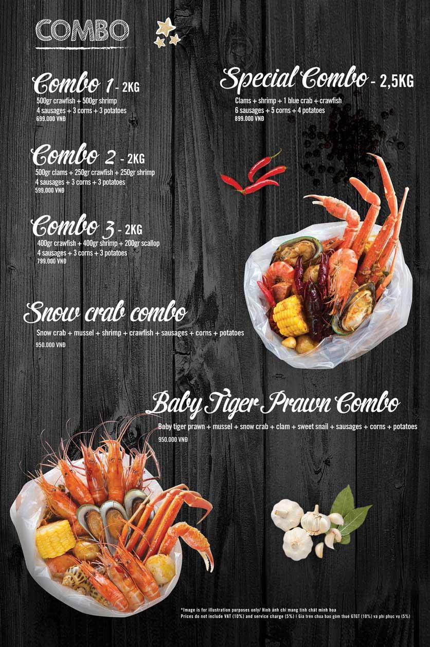 Menu The Crab Shack - Tú Xương 3