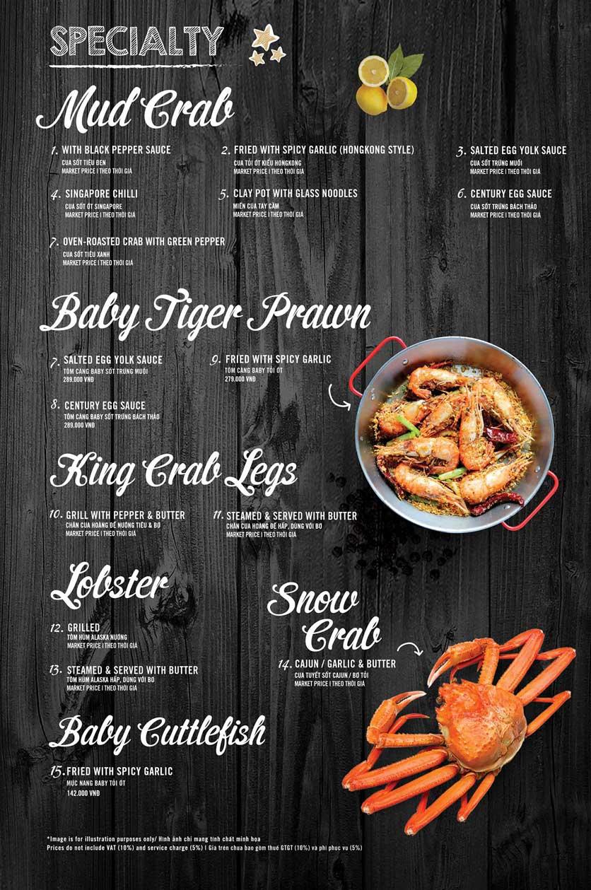 Menu The Crab Shack - Tú Xương 4
