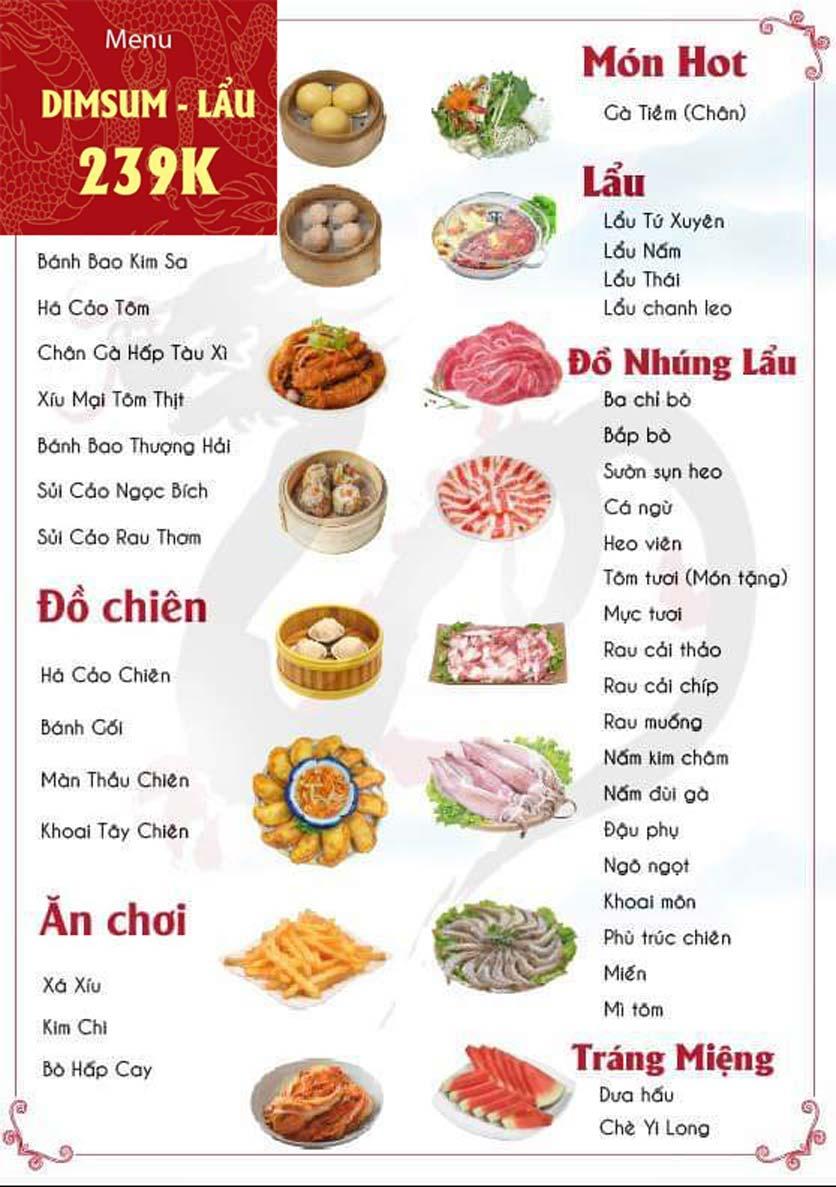 Menu Yi Long – Dimsum Lẩu Trung Hoa - Trung Hòa 2