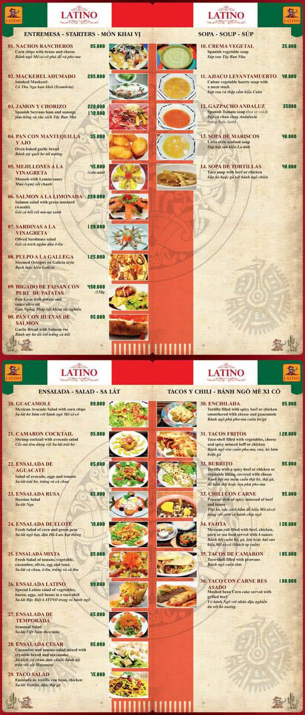 Menu Latino 1
