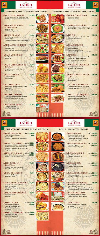 Menu Latino 2