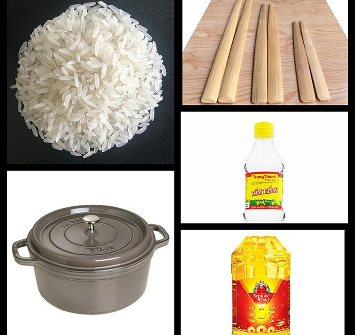 cách nấu cơm bằng bếp gas