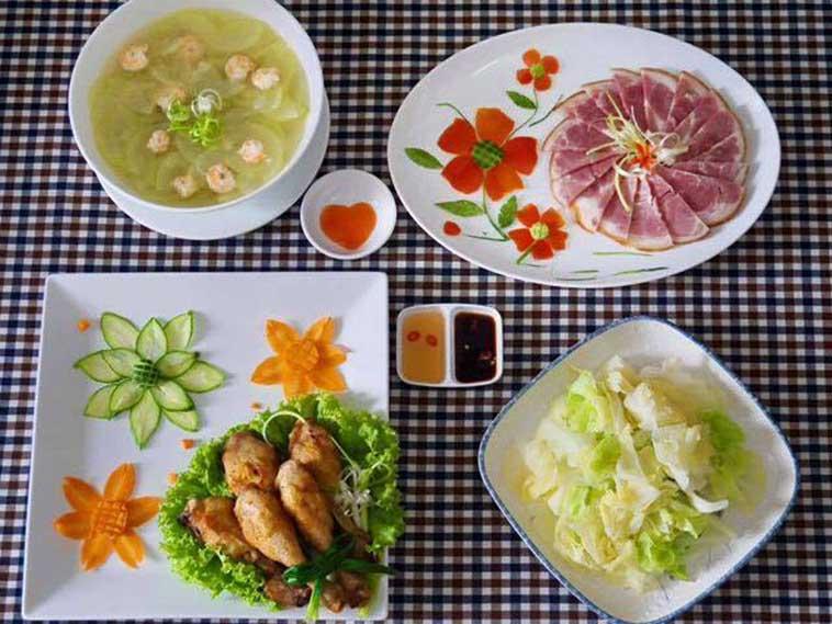 Cách ăn dinh dưỡng mâm cơm hàng ngày trong tuần