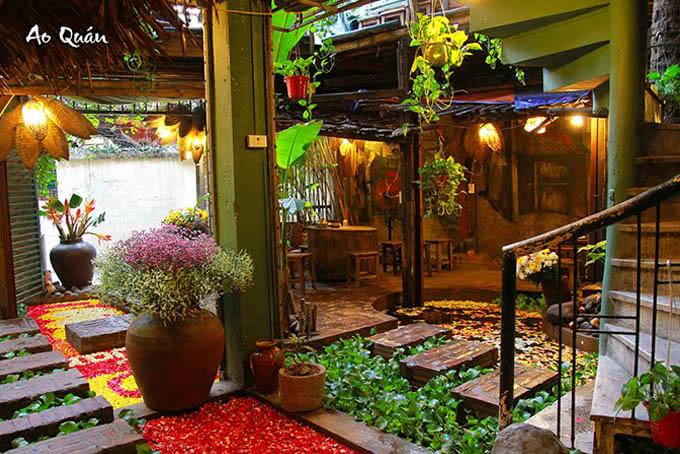 Không gian hút khách Nhà hàng ao quán ngõ 19 đông tác 5