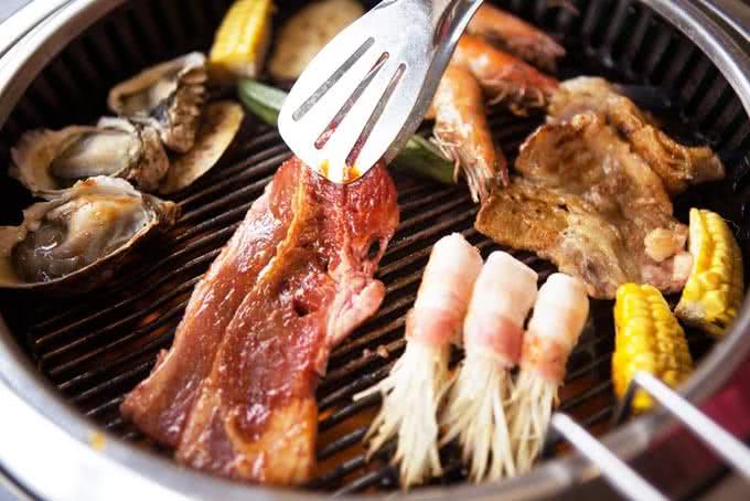 Các món nướng tại Nhà hàng Habit BBQ 1A Dịch Vọng Hậu Cầu Giấy