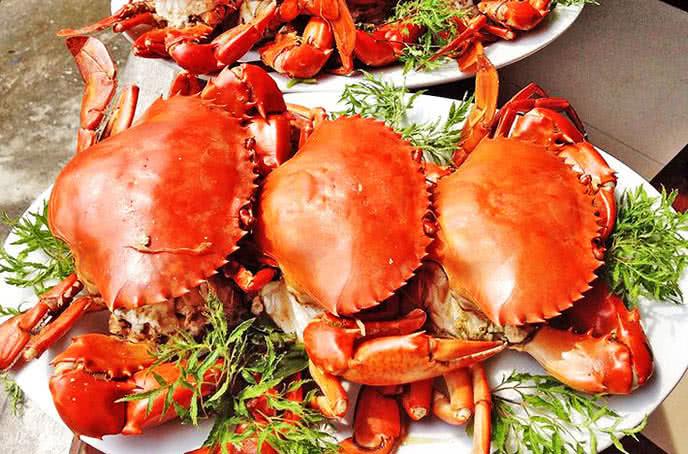 Cua càng đỏ - Nhà hàng hải sản biển đông trần thái tông