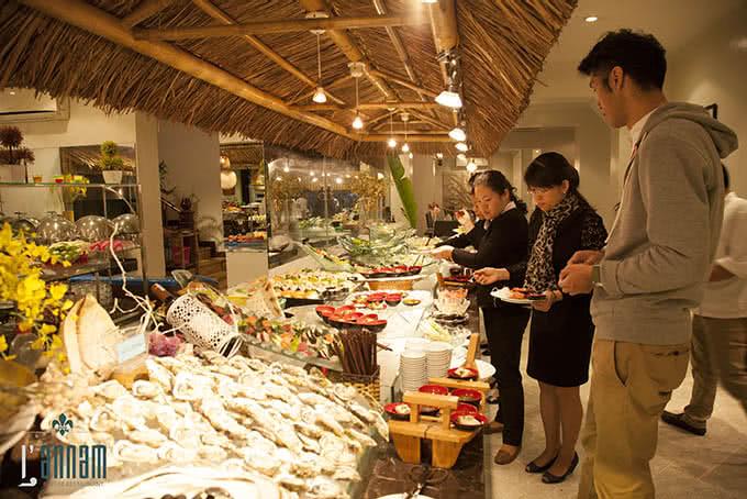 nhà hàng L'annam buffet 177 bùi thị xuân 8