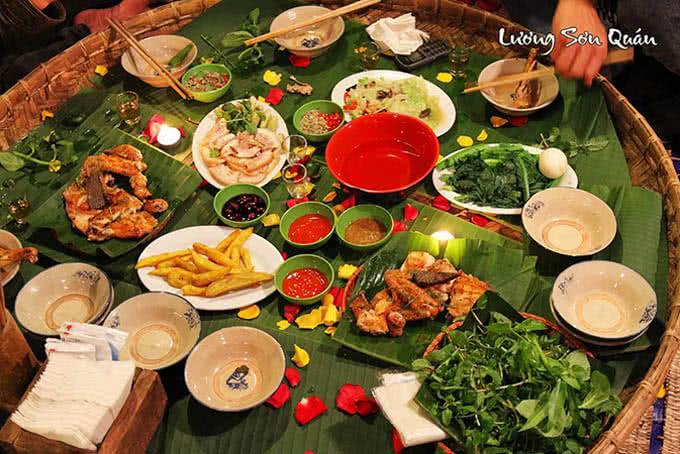 lương sơn quán thái hà Đến đây để thưởng thức vị ngon của ẩm thực núi rừng dân dã