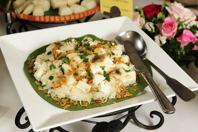 Món xôi sắn Lang Liêu cho ngày giỗ Tổ - Nhà hàng ngọc mai vàng